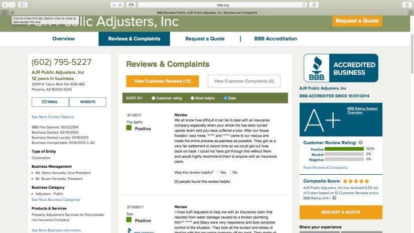 Another 5 STAR Better Business BureauReview