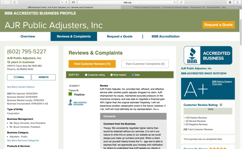 AJR awarded another 5 STAR BBB review